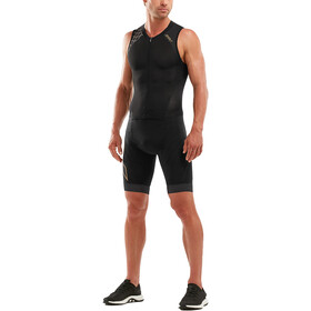 2XU Compression Kombinezon triathlonowy z zamkiem błyskawicznym Mężczyźni, black/gold